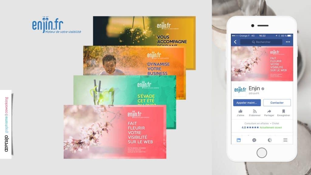 Communication digitale réalisée pour Einjin