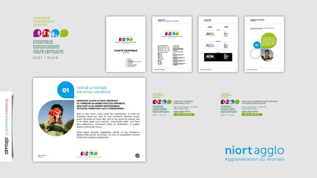 Charte graphique, identité, logo pour Niort Agglo