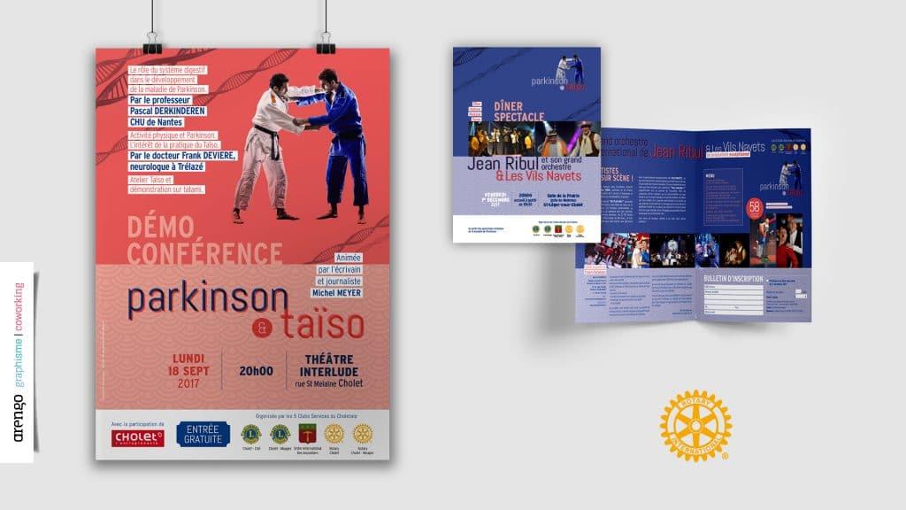 Affiche et dépliant pour le Rotary Club de Cholet