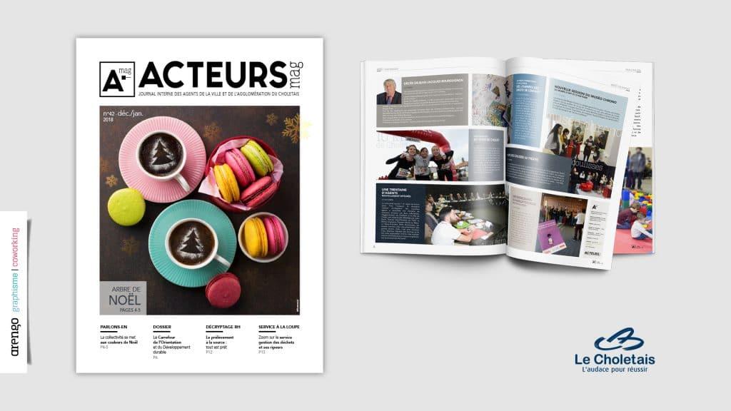 Le magazine Acteurs mag par le studio Arengo à Cholet