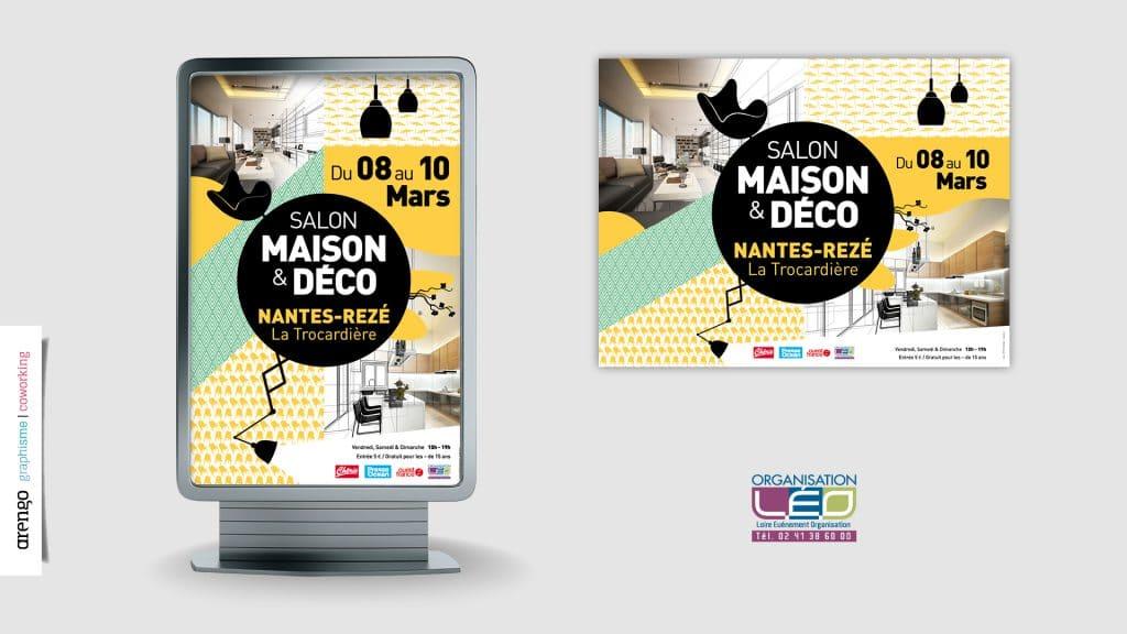 Projet d'affiche réalisé pour le salon déco et maison à Nantes-Rezé