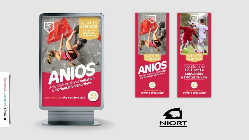 Campagne d'affichage pour la ville de Niort