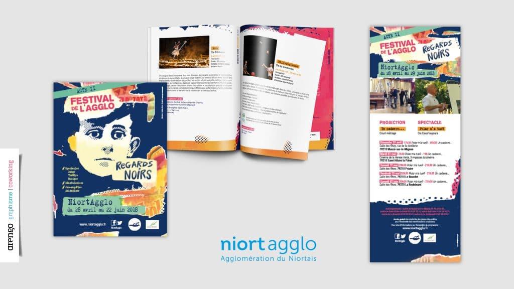 Flyers et magazine pour le festival de l'agglo de Niort