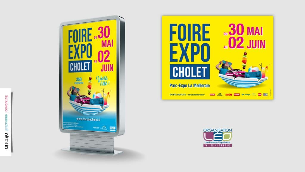 Affichage réalisé pour la foire Expo de Cholet