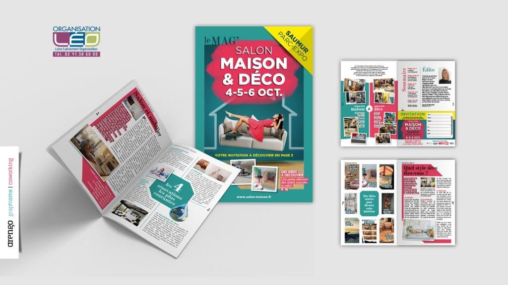 Magazine réalisé pour le salon de la maison à Cholet