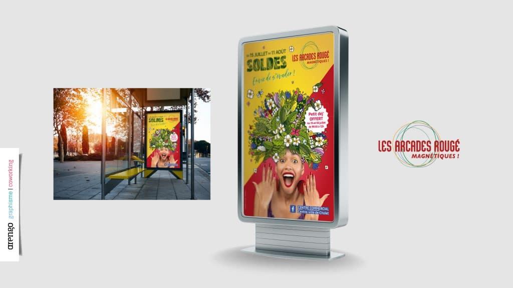 Affiche des soldes des Arcades Rougé à Cholet