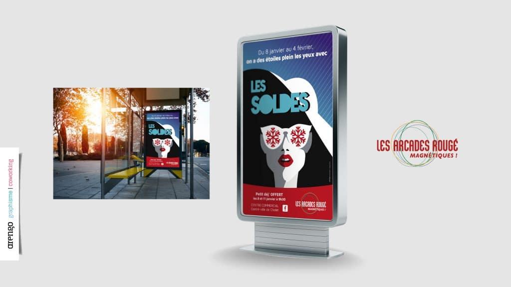 Création d'une affiche pour les soldes à Cholet