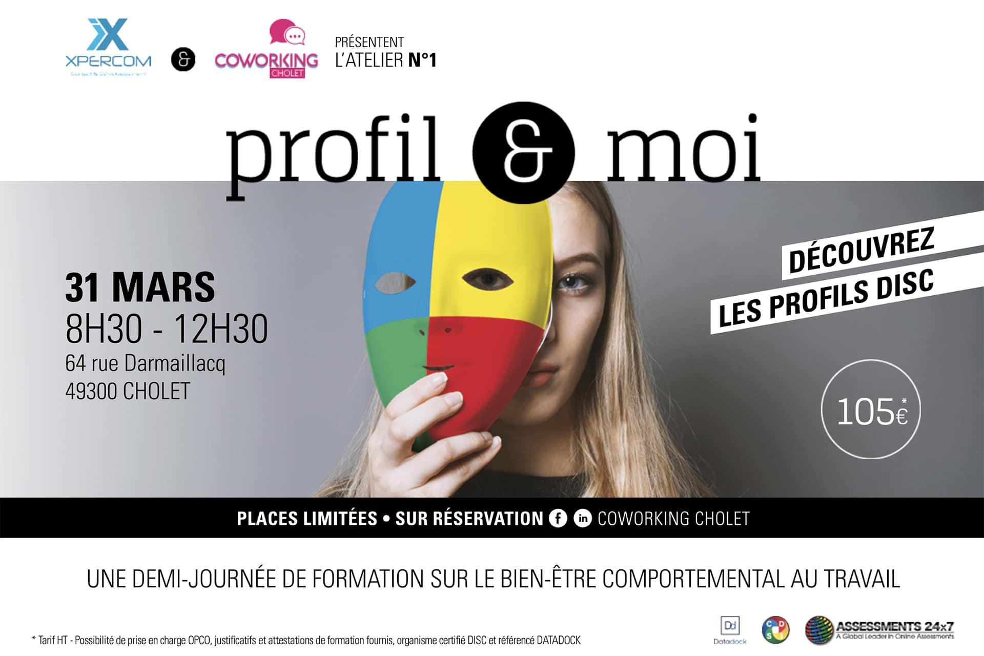 Promotion évènementielle de Profil et moi