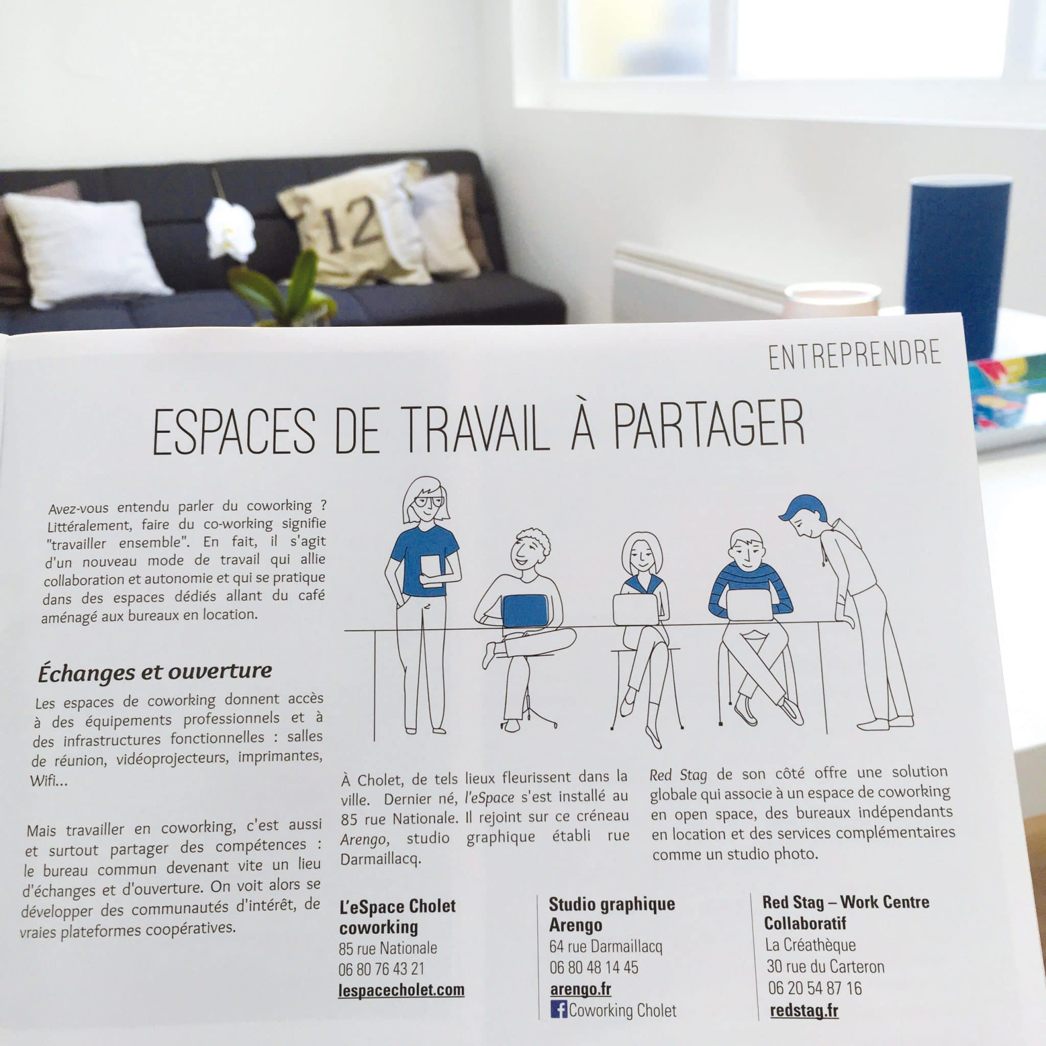 Article du Choler mag avec Coworking Cholet