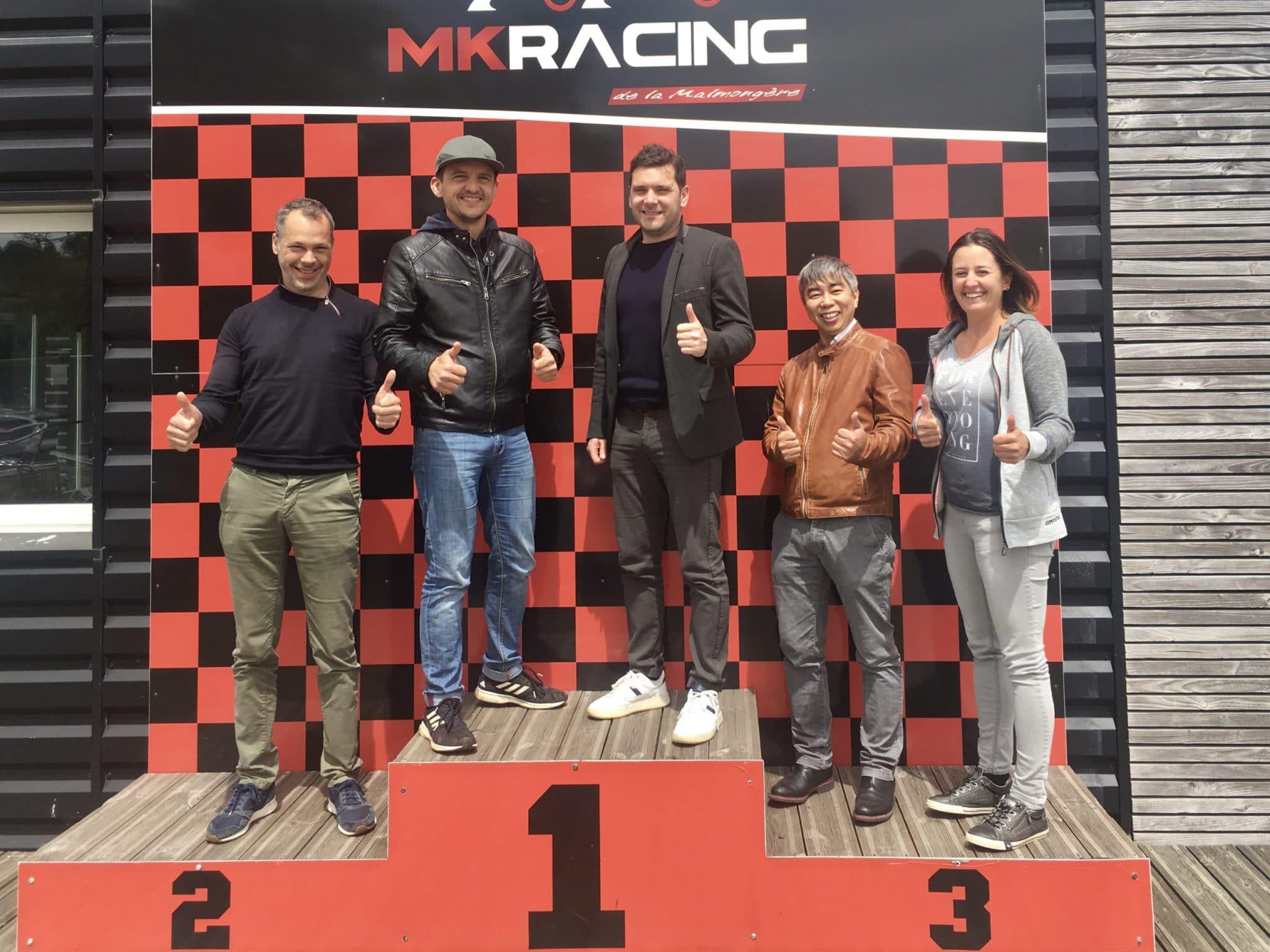Le podium du karting des coworkers Cholet
