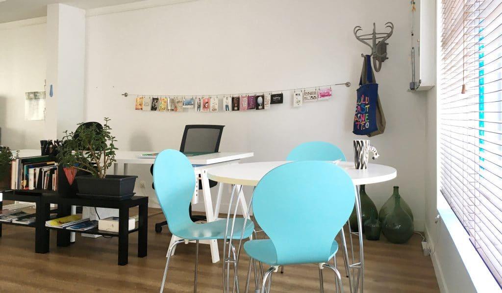 L'espace de réunion du coworking Cholet
