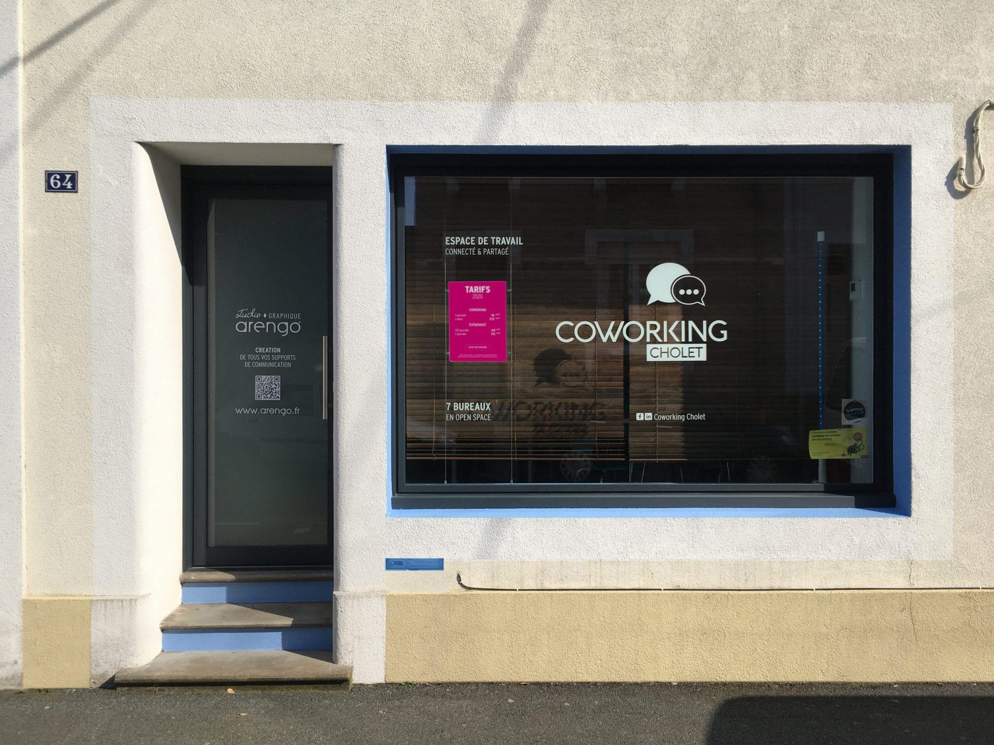 La facade du coworking Cholet et du Studio Arengo